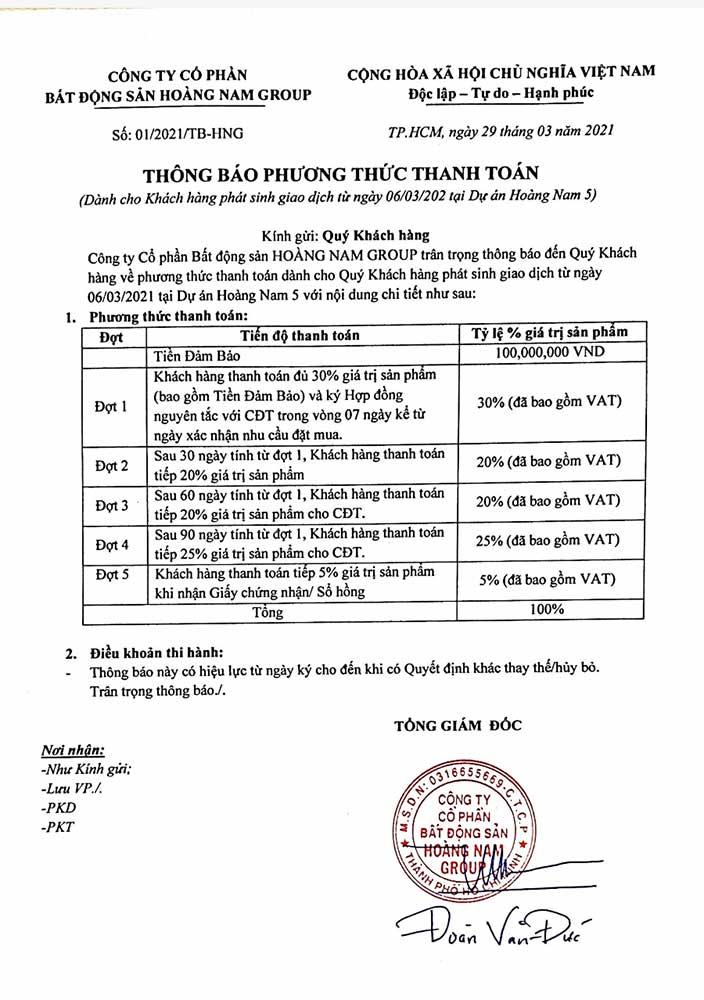 PTTT NhàPhố Hoàng Nam 5