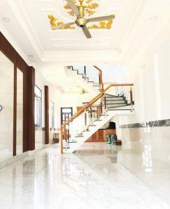 Phòng khách hoàn thiện nội thất nhà phố Hoàng Nam 5