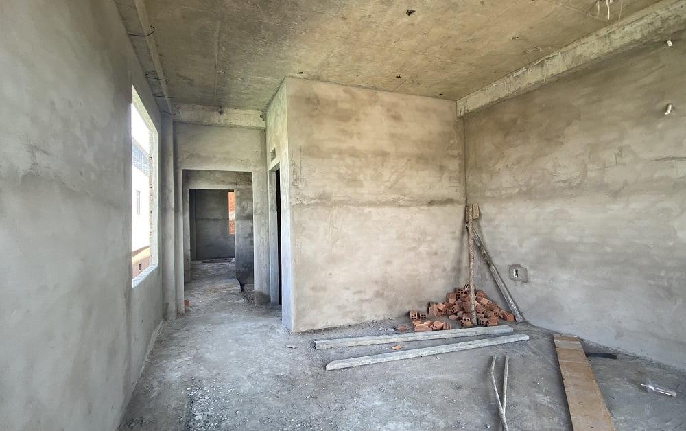 Tầng 1 shophouse bàn giao thô