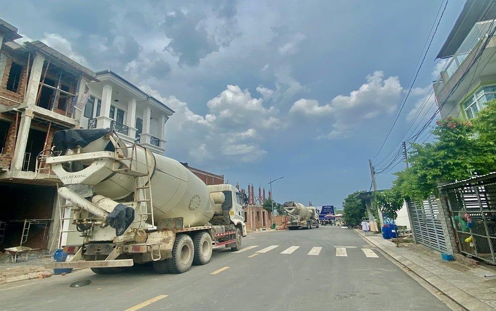 Tiến độ xây dựng dự án nhà phố Hoàng Nam 5