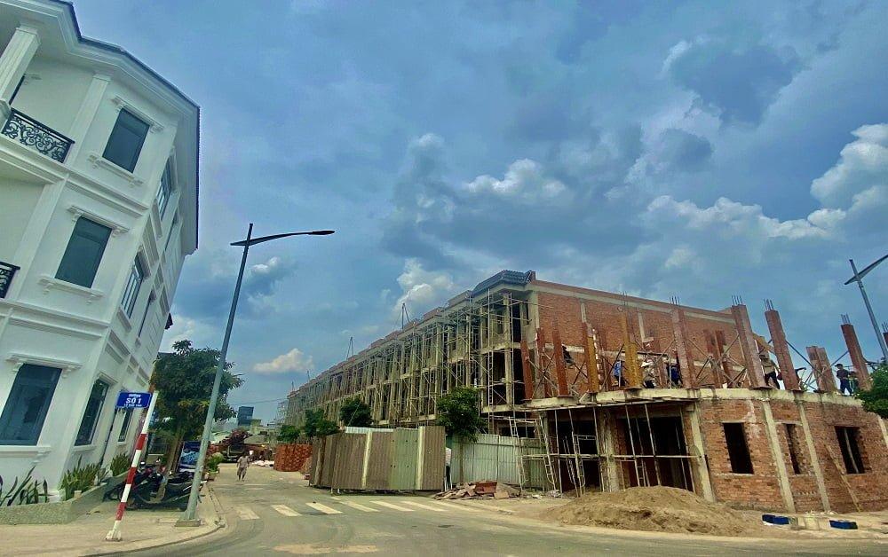 Tiến độ xây dựng nhà phố Hoàng Nam 5 - Lock C