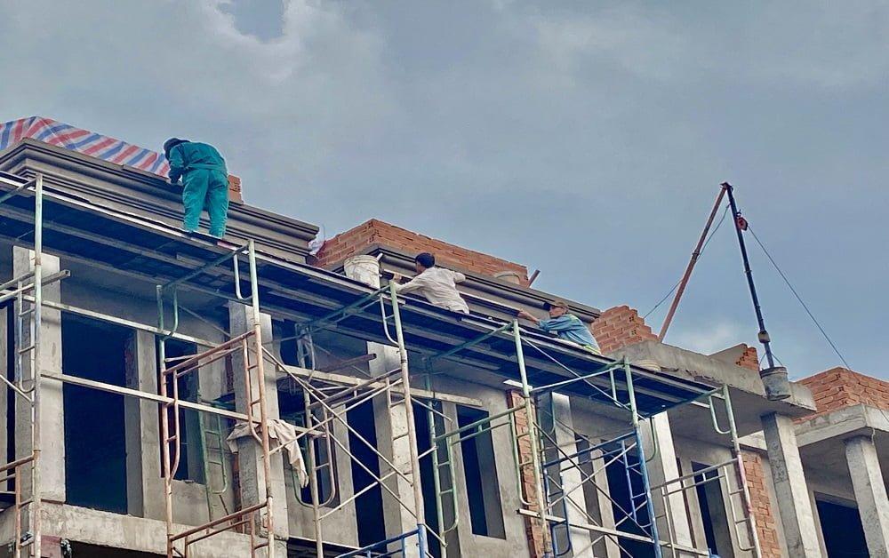 Tiến độ xây dựng nhà phố Hoàng Nam 5 - Lock A