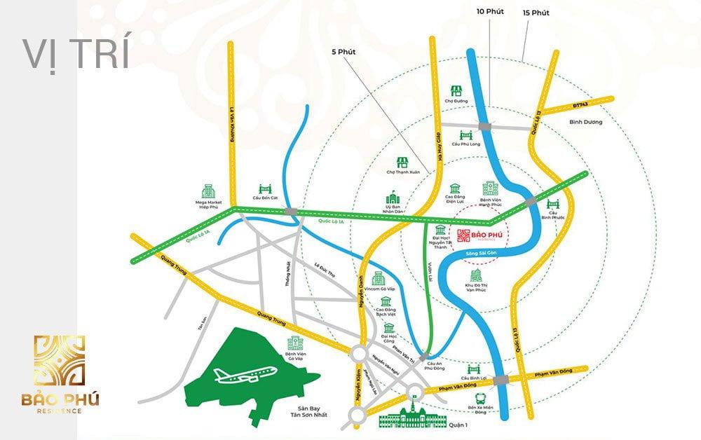 Vị trí KDC Bảo Phú Residence
