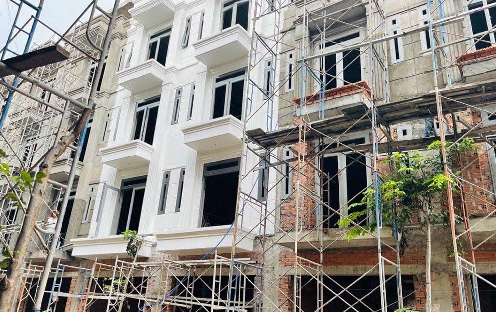 Dự án khu dân cư đang trong quá trình xây dựng