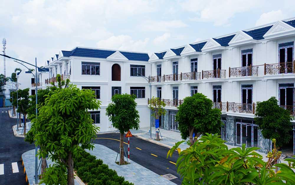 Các căn nhà phố đã hoàn thiện tại dự án 01
