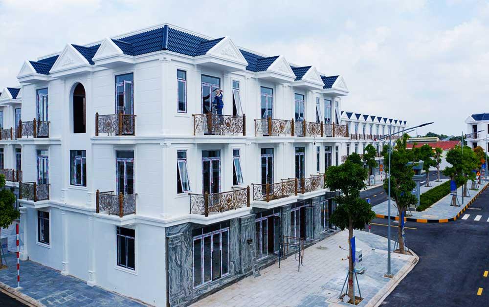 Các căn nhà phố đã hoàn thiện tại dự án 02