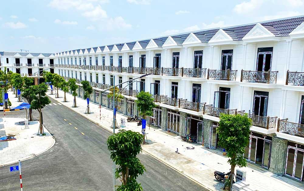 Các căn nhà phố đã hoàn thiện tại dự án 04