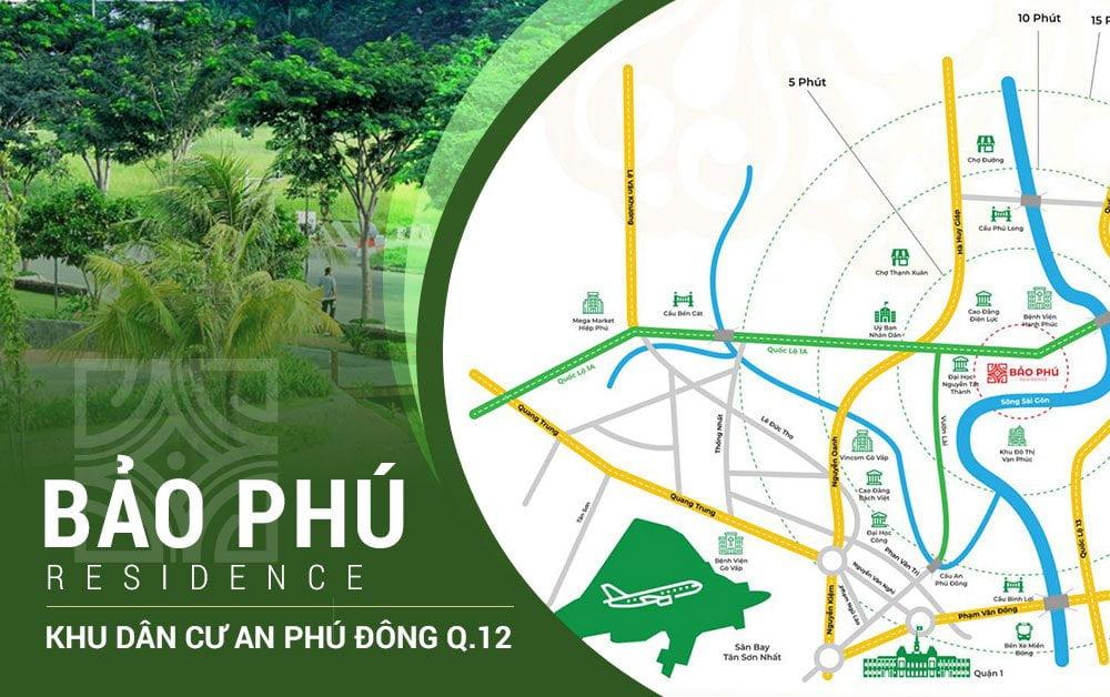 Vị trí khu dân cư Bảo Phú