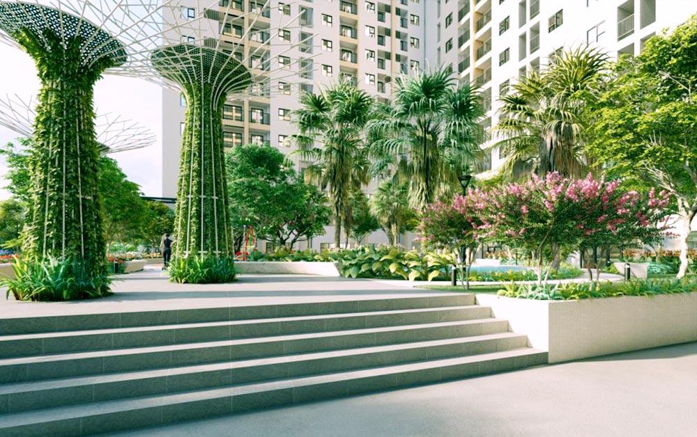Công viên cảnh quan tại dự án Tecco Bình Dương